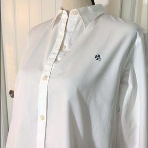 Ralph Lauren white button down shirt